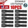 10x Tactical 18650 Flashlight T6 High Powered 5Modes Zoomable Torch Aluminum USA
