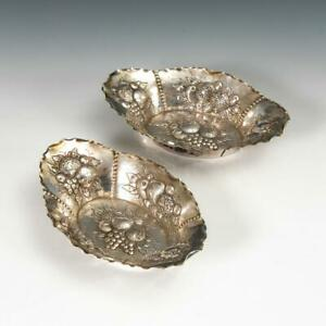2 antique  Baroque, Germany small silver bowls.