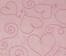"Pink Suede Heart 8""X8"" Post Bound Scrapbook Album - Crafty Koala"
