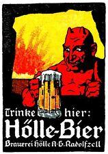 Magnet Advertising German Advertisement for Hell Beer 1905