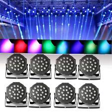 8ST 18X3W LED RGB PAR Stage Lighting PAR Floorspot Scheinwerfer Licht Effekt DE!