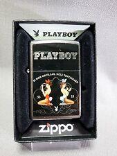 "Zippo - ""playboy"" - street Chrome-Neuf & Emballage D'origine - 381"
