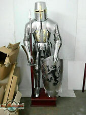 Wearable Steel Medieval Armor Knight Crusador Full Suit of Armor Costume