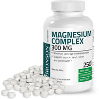 Magnesium Complex Maximum Coverage 300 mg Non-GMO GLUTEN FREE, 250 Tablets