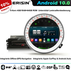 8-Kern DSP CarPlay Android 10 Autoradio GPS Navi für BMW Mini Cooper CD DAB+WiFi