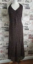 Principles Brown spotty halterneck rockabilly dress size 14 UK