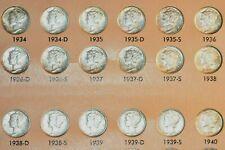New listing 1934-1945 Pds Mercury Dime Set- Bu