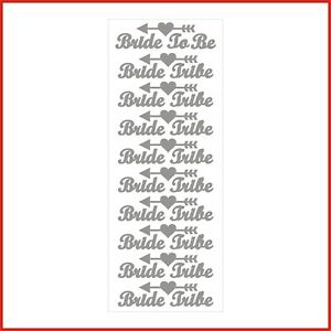 Bride Tribe Hen Party Words Vinyl Stickers Letters Labels Wedding Bride to be