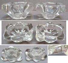 2 petites salières en cristal signés DAUM France saleron sel poivre