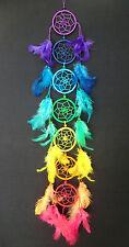 Dreamcatcher Traumfänger Regenbogen Rainbow 7 sieben Chakra Farben Yoga Chakren