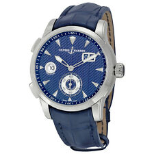 Ulysse Nardin Dual Time Automatic Blue Dial Mens Watch 3343-126LE-93