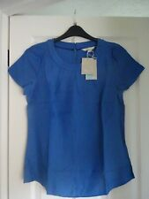 BODEN CAREY TOP SILK MIX in SKY BLUE. UK 14, EUR 40-42, US 10. BNWT W0093 LOVELY