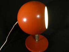 Rare LAMPE boule orange TBE table lamp tischleuchte tischlampe Design Art Deco