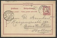 Deutsch Südwest Afrika covers 1905  PC Lüderitzbucht to Amsterdam
