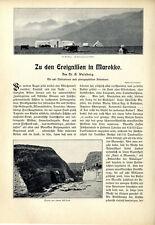 Dr.G. Welsberg Zur ersten Marokkokrise Rif-Berge Tanger Tetuan Markt Text v.1904