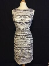 Adrianna Papell 14 Black & White Summer Dress