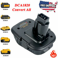 DCA1820 Battery Adapter Converter For DEWALT 18V to 20V Max Lithium Ion Tools US
