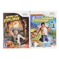 Activity Life Explorer and Activity Life Outdoor Challenge Nintendo Wii Game Lot