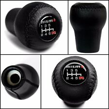 New Nissan NISMO 6 Speed Leather Gear Stick Shift Knob Screw On 10mm (M10xP1.25)
