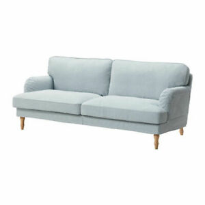 Ikea Stocksund REPLACEMENT 3 seater SOFA COVER ONLY  blue white 403.202.69 NEW