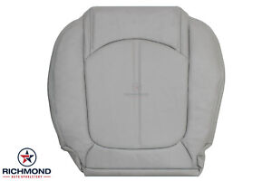 2007-2012 GMC Acadia SLT -Driver Side Bottom Replacement LEATHER Seat Cover Gray