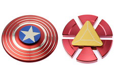 Captain America Shield + Iron Man Fidget Hand Spinner Toy EDC Focus ADHD Autism