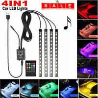 12LED Car Interior Footwell RGB Wireless Music Control 5V Atmosphere Strip Light