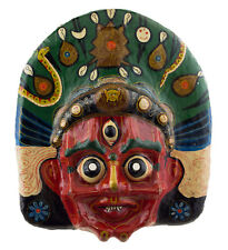 Grand Masque nepalais Mahakali Indra jatra Festival Papier mache Tibet 46cm 1503