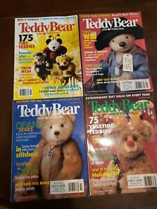 LOT OF 4 VINTAGE June-Dec 2000 TEDDY BEAR AND FRIENDS COLLECTIBLES MAGAZINES