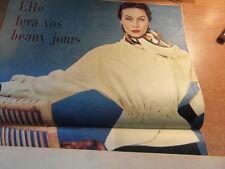 Revue Mode Vintage MARIE FRANCE No 324 1951 + PATRON PATTERN VESTE PERLENE
