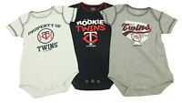 MLB Minnesota Twins Team Athletics Creeper Infant 3 Piece Bodysuit Set New