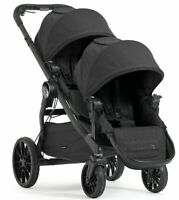 Baby Jogger City Select Lux Twin Tandem Double Stroller w/ Second Seat granite