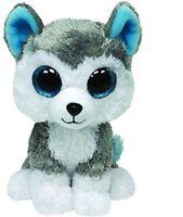White Grey Ty Uk Brightly Coloured Slush Wolf Beanie Boo Plush Soft Toy 6in