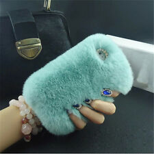 New fluffy Hair Soft Skin Back Case Silicone Bumper Cover For iPhone & Samsung