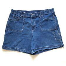 Gloria Vanderbilt Women's Sienna Denim Cargo Shorts Blue Size 14