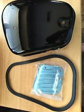 VINTAGE BMW NEW R26-R27 BATTERY COVER W/BACK /PANEL RUBBER+ALUMINUM KICK PLATE