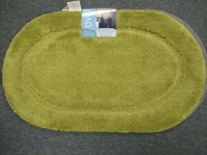 BIBB Oval Non-Slip SPA Bath Rug OLIVE *18 X30 WITH LATEX BACK  FREE SHIPPING !!!
