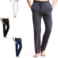 Homme Coton pantalon en vrac Plage Cordon Pantalon Confortable Yoga Trousers