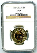 2009 $2 CANADA TOONIE NGC SP69 FROSTED POLAR BEAR SUPER RARE STRIKE TOP GRADE=4