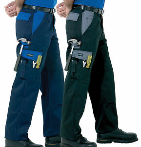 Spire Panama Triple Stitched Work Trousers with Knee Pad Pockets, 30 - 46, R & T