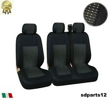 Renault Trafic Master Housse Couvre-Sieges Tissu Luxe 2+1 Noir-Noir
