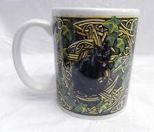 Lisa Parker Ceramic Mug - Black Cat, Ivy & Celtic Knot Design Mug - BNIB