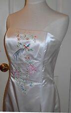 Jessica McClintock Gunne Sax Embroidered Bird Wedding Prom Cocktail Dress Gown~M