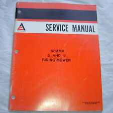 Allis Chalmers scamp 5 8 riding mower lawn garden tractor service shop manual