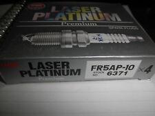 4 NGK FR5AP-10 LASER PLATINUM PREMIUM SPARK PLUGS 6371