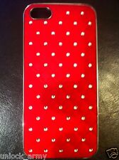 3D Braided Red Swarovski Crystal Bling Case Handmade iPhone 5 5S Hard Cover New