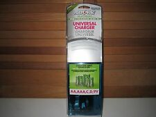 Rayovac PS3PL UNIVERSAL Charger for NiMH, NiCD & RECHARGEABLE ALKALINE Batteries