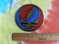 Grateful Dead Steal Your Face SYF 3 Inch New Design Gold Metal Metallic Sticker