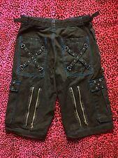 TRIPP NYC UFO PANTS / Cargo SHORTS ! RAVE Punk Goth BONDAGE Electro Club kid