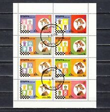 Staffa, 1976 Local. Scouts & Chess sheet of 8. Canceled.